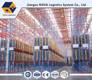 Heavy Duty Pallet Racking for Blue Frame and Orange Beam