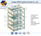 Selective Pallet Racking with Blue Frame and Orange Beam