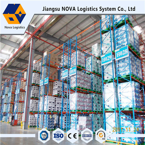 Blue Frame and Orange Beam Pallet Racking with Ce Certificated